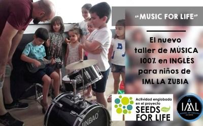 """""""Music for Life"""". El nuevo taller de música 100% en inglés para niños. ¡GRATIS para nuestro alumnado!"""