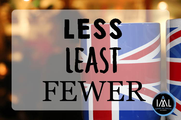 "Less, least, fewer…¿Cómo se dice ""menos"" en inglés?"