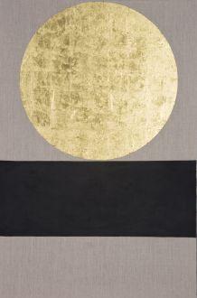 Patrick Scott, Meditation Painting, 2006, Gold leaf & acrylic on unprimed canvas, 122 x 81 cm, Collection the artist