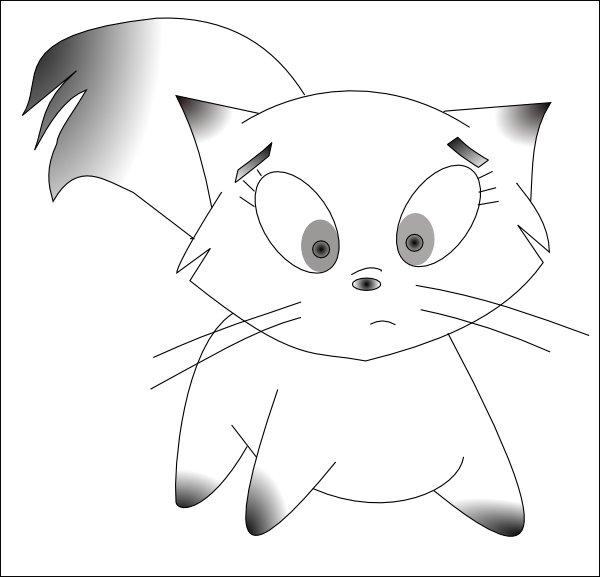 Gattino Da Colorare Per Bambini.Disegni Gattini Da Colorare Per Bambini
