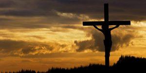 Jesus silhouette on the cross