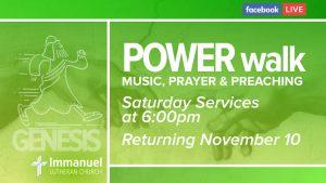 power walk saturday service music prayer preaching genesis immanuel lutheran joplin missouri lcms church