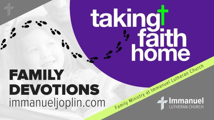 taking faith home family devotions