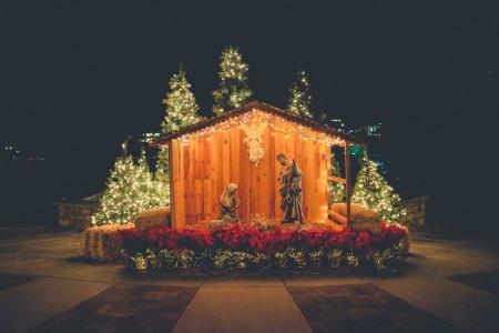 call him jesus. outdoor nativity. advent devotion. immanuel lutheran church lcms. joplin, missouri. call his name jesus.
