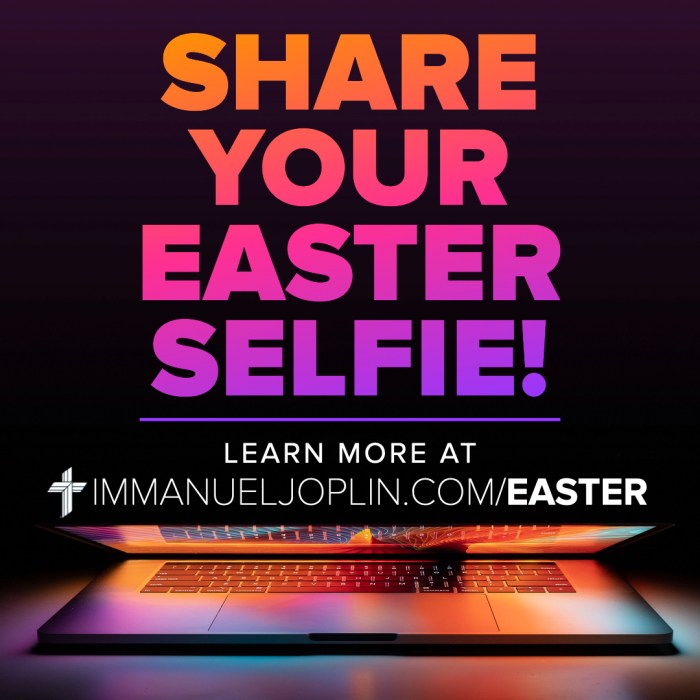 share your easter selfie. Immanuel Lutheran Church LCMS. Joplin, Missouri. Learn more at immanueljoplin.com/easter