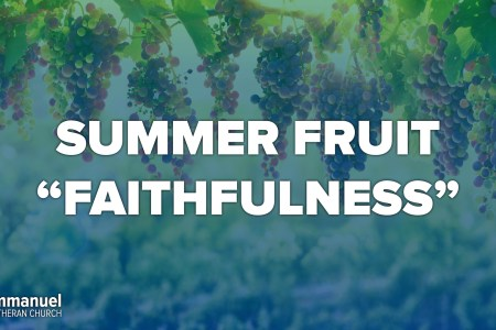Summer Fruit Faithfulness. twelfth sunday after pentecost. confirmation day. Immanuel Lutheran Church LCMS. Joplin, Missouri.