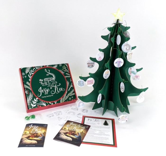 Jesse Tree Family Activity Kit. Advent. Christmas. Ornament. Devotion.