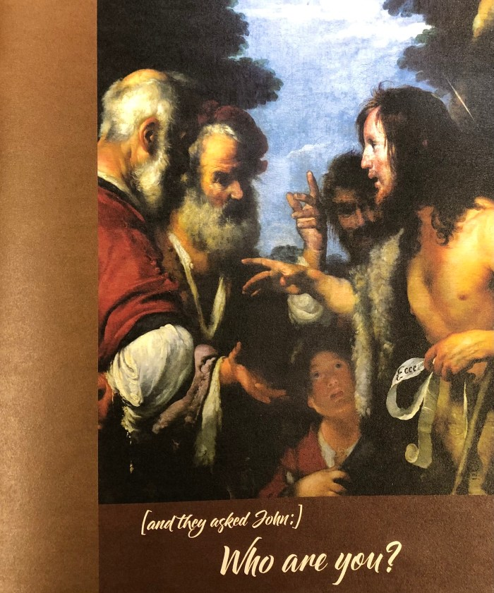 And they asked John, Who are you? Third Sunday in Advent Bulletin Cover. Immanuel Lutheran Church LCMS. Joplin Missouri.