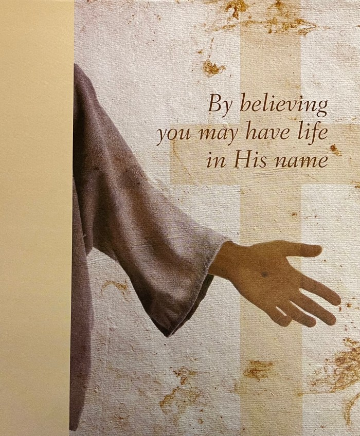Second Sunday of Easter. By believing you may have life in His name. Immanuel Lutheran Church LCMS. Joplin Missouri.