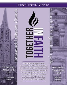Ecumenical Midweek Lenten Vespers Service at the Church of St. Ignatius Loyola @ St. Ignatius Loyola | New York | New York | United States