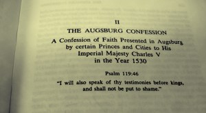 Lutheran Beliefs: The Augsburg Confession (class) @ Our Undercroft