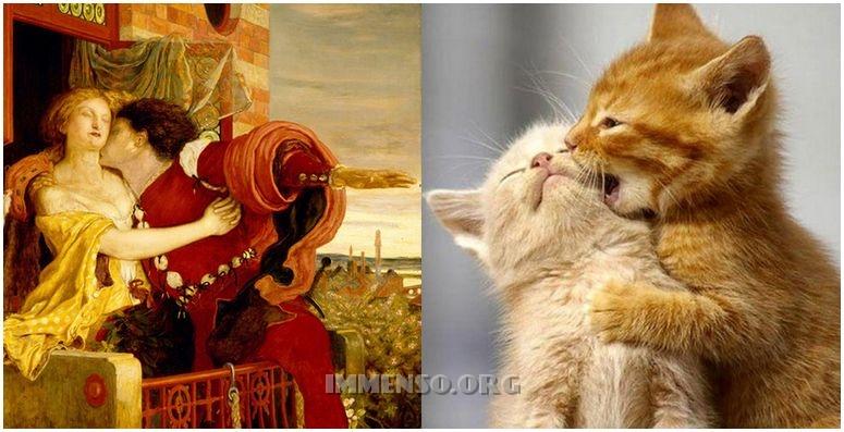 Foto gatti in quadri famosi  Divertenti e curiose immagini di animali