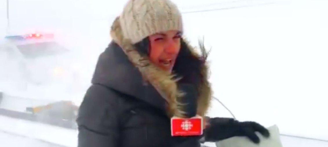 Tempête de neige au Saguenay