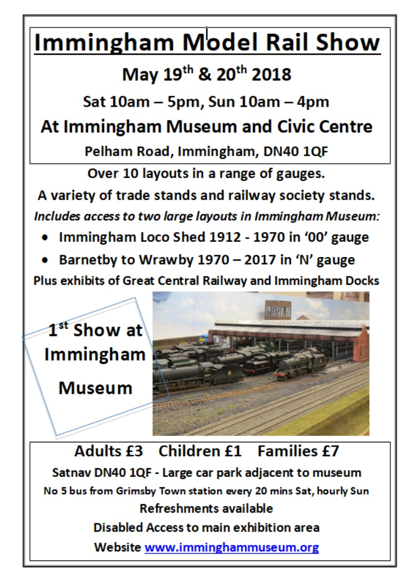 Immingham Model Railway Exhibition 2018