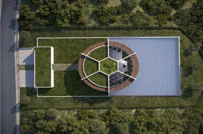 La nuova casa di Messi come un campo da calcio