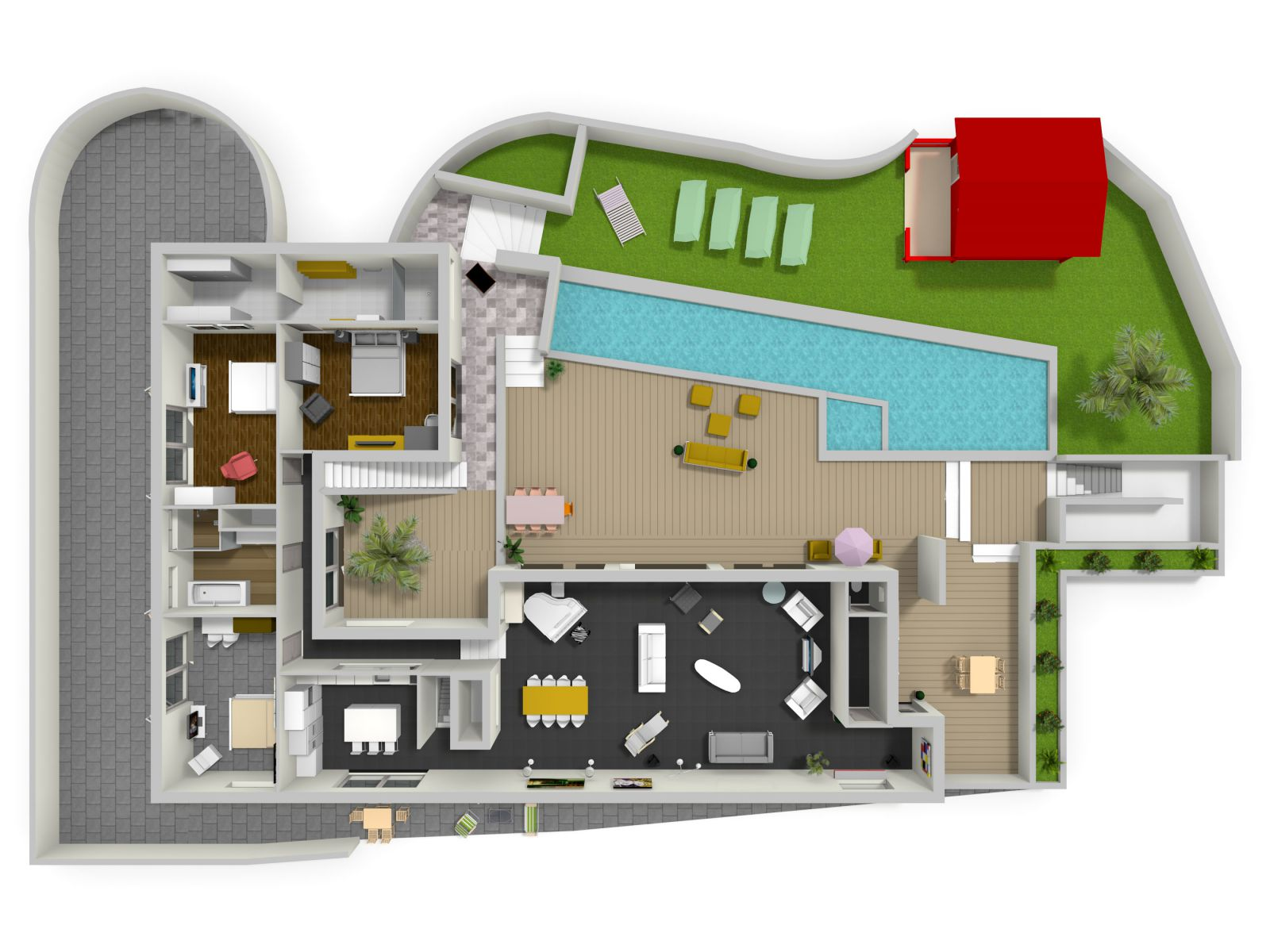 Plan 3d maison moderne maison moderne for Site 3d maison