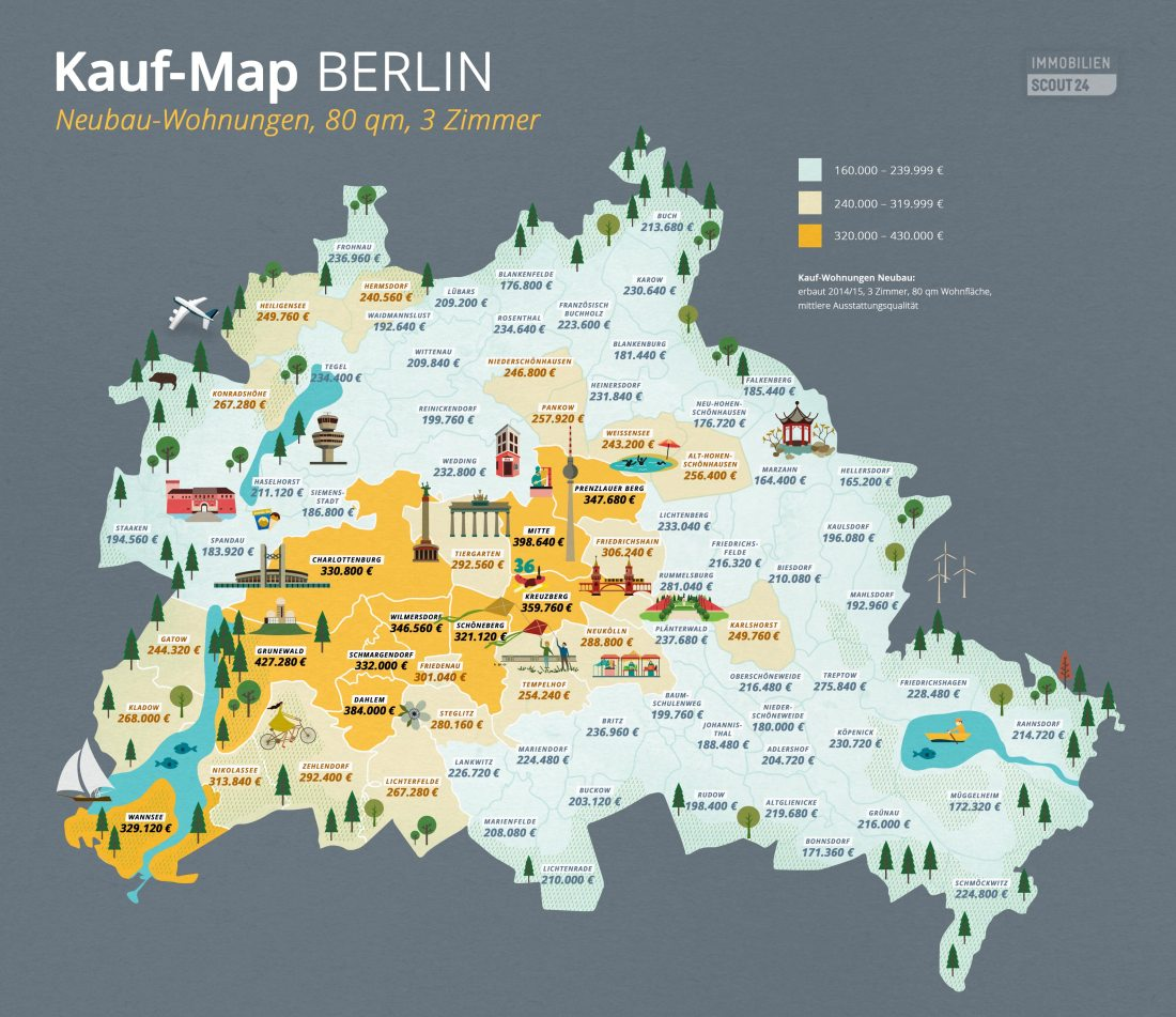 Kauf-Map Berlin Neubau-Wohnungen