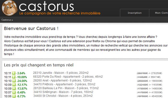 Castorus : outil pour suivre l'évolution d'une annonce immobilière sur SeLoger et LeBonCoin
