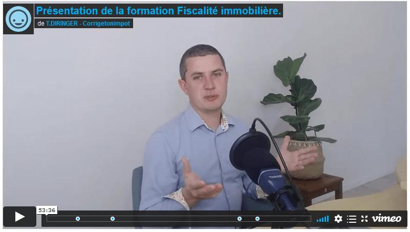 vidéo d'explication sur la formation fiscalité immobilière