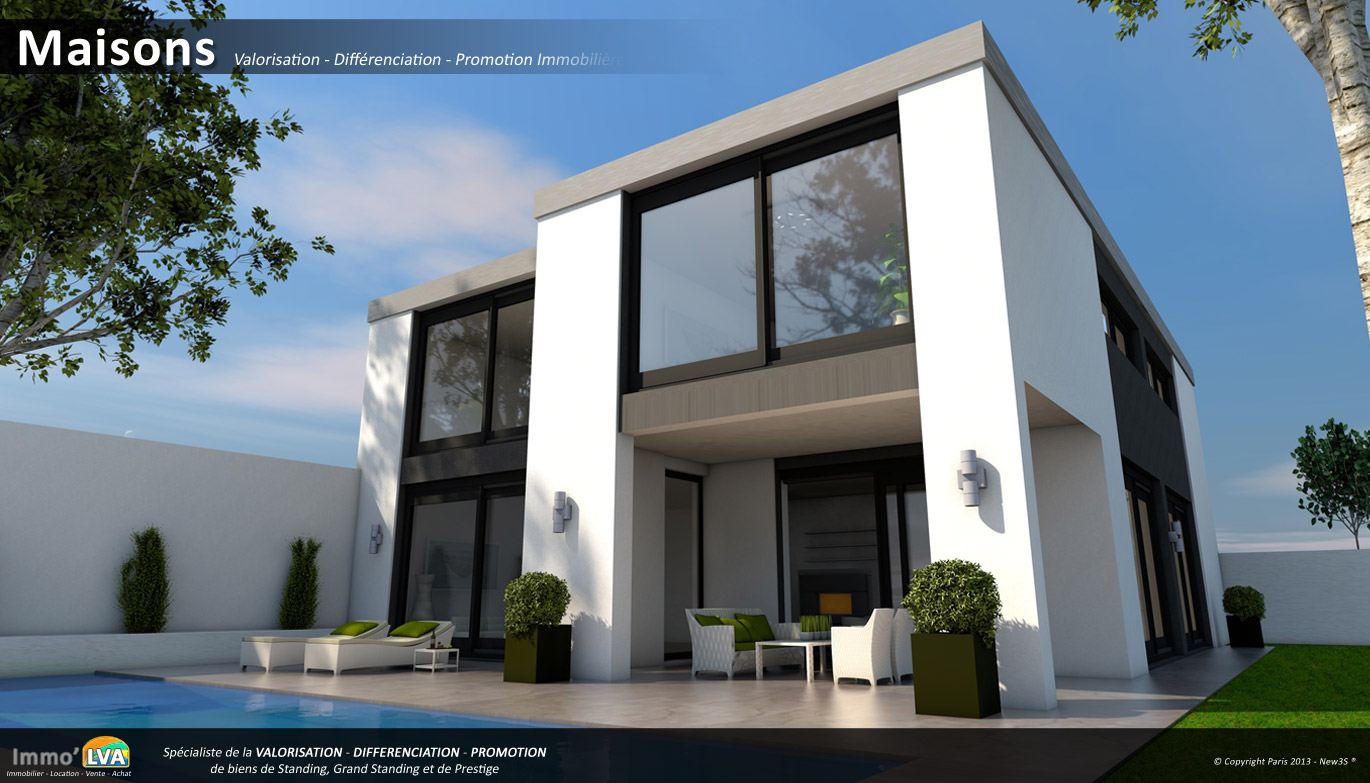 Plan maison duplex 3d for Maison duplex plan