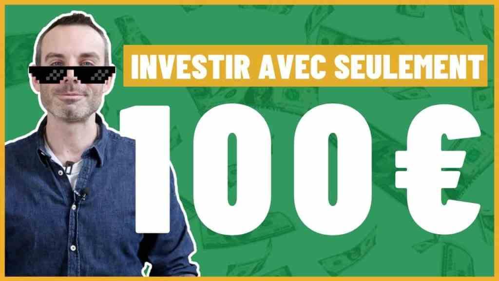 Comment investir avec 100 euros par mois ?
