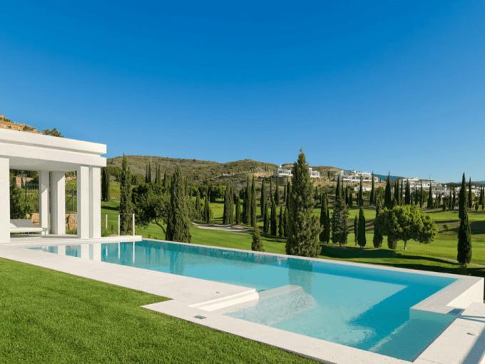 Villa de style contemporain avec vue dégagée Los Flamingos Marbella, Malaga, Andalousie, Espagne