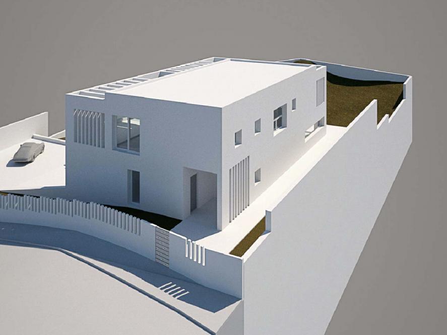 Projet d'habitation modulaire en béton