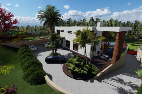 Villas au style architectural contemporain1