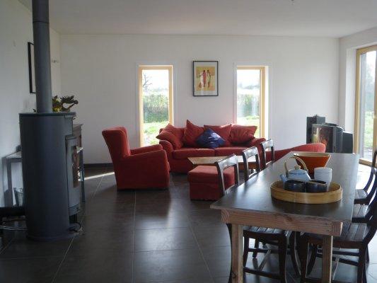 Maison passive en bois et chambres dhtes prs dAngers