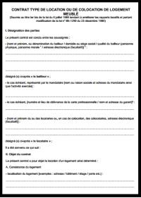 Formulaire Caution Solidaire Pdf Contrat Type Location Maison