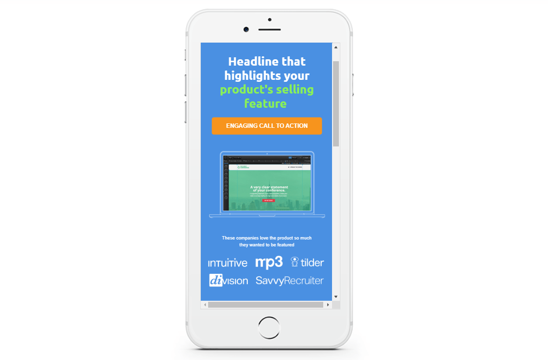 unbounce accelerated mobile page