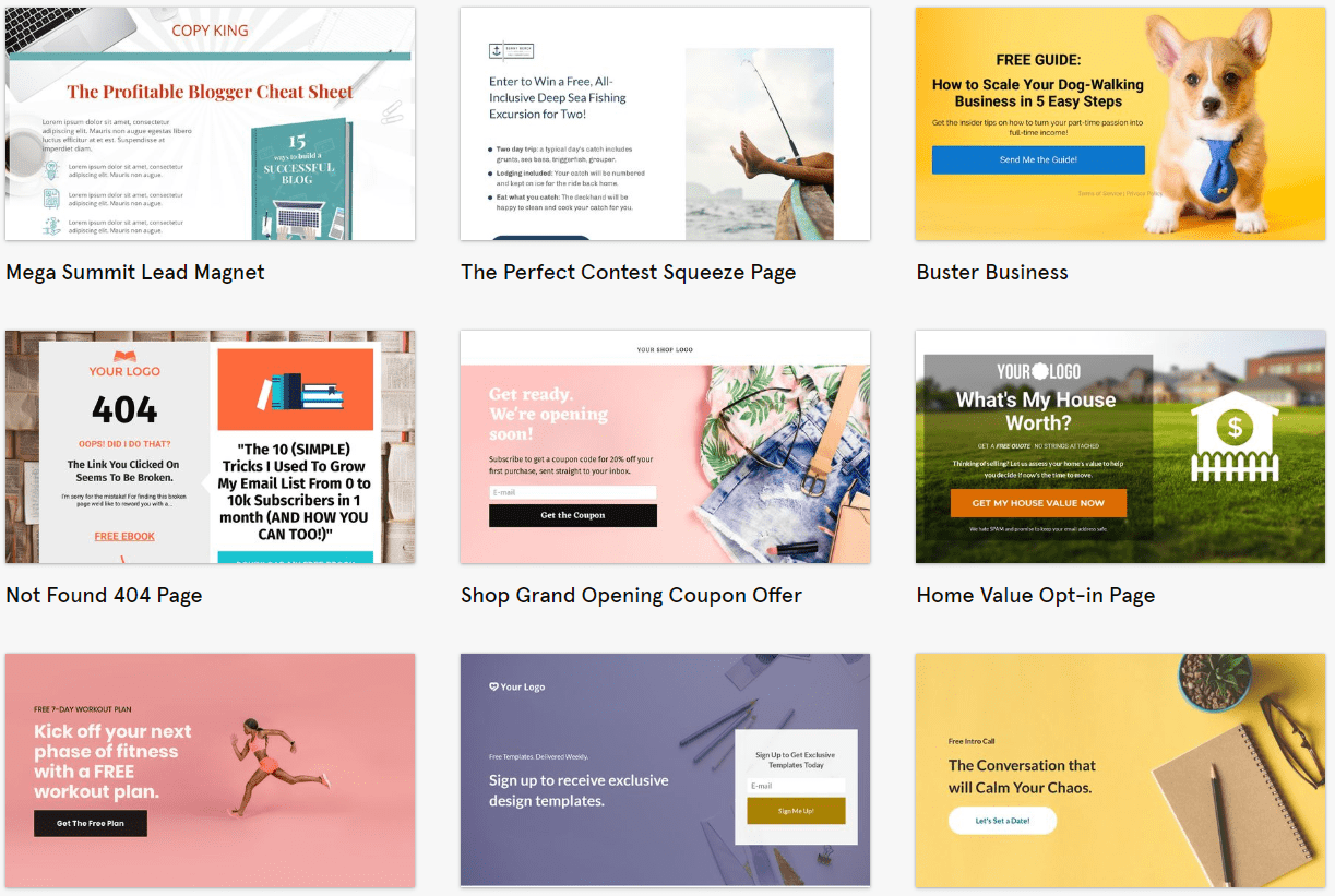 best leadpages templates