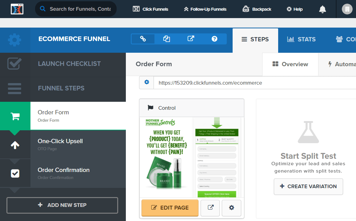 clickfunnels for ecommerce