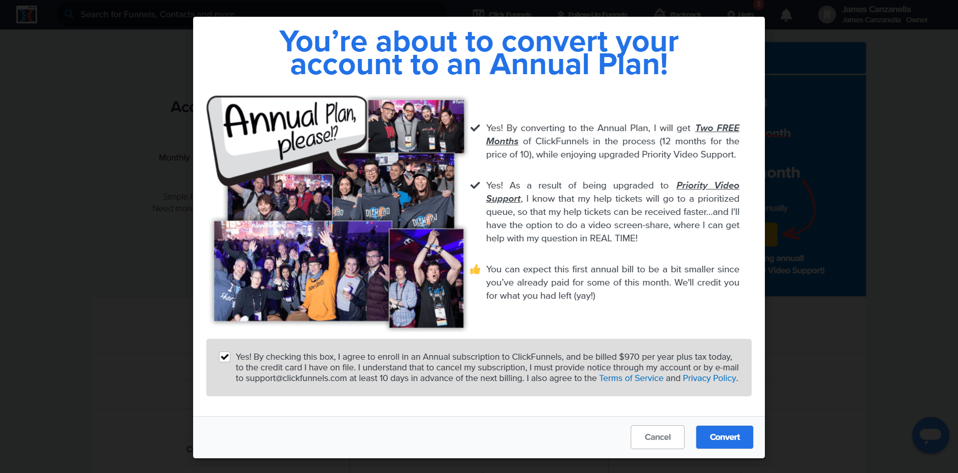 clickfunnels convert annual