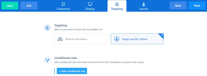 target website pop ups