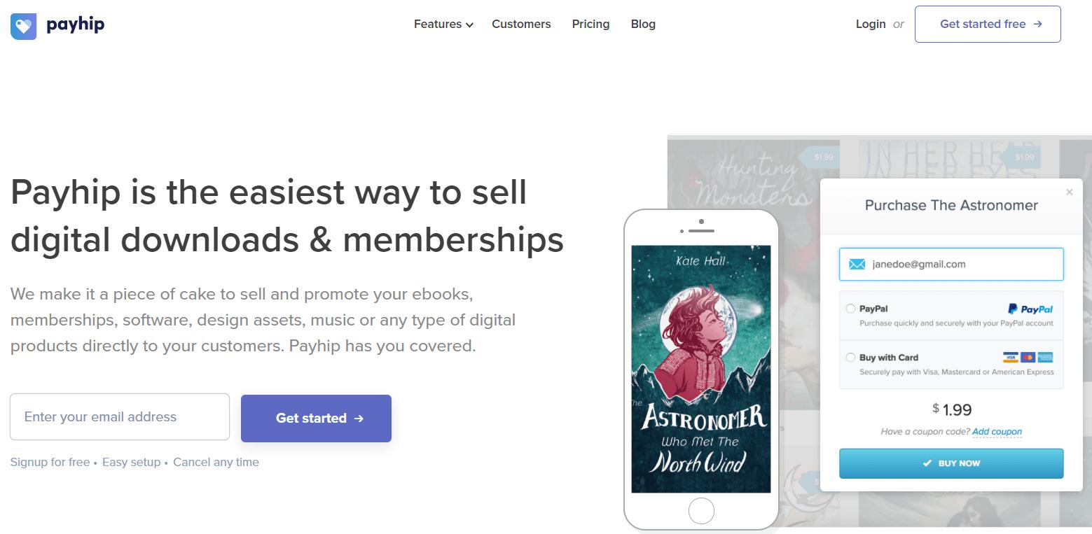 e-commerce platform for selling digital downloads