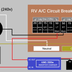 Rv Battery Bank Wiring Diagram For Capacitor Start Motor Off Grid Set Up Travel Trailer Install