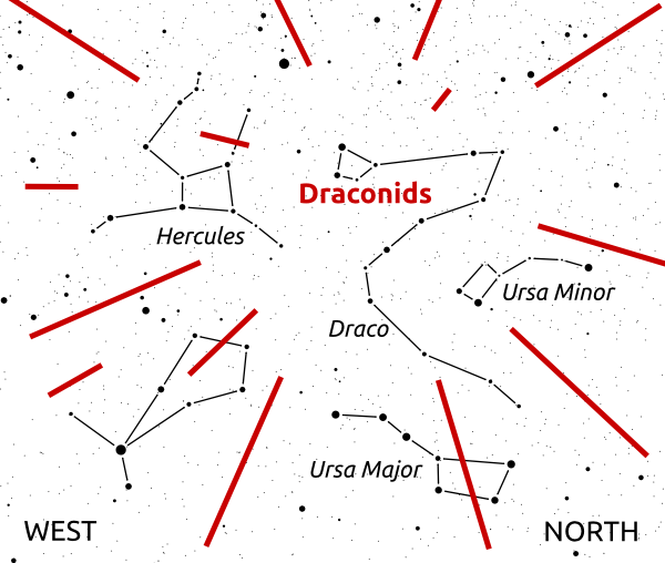 Konstilasi rasi bintang Draconids