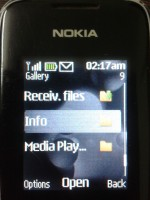 Hide files folder in java Nokia mobile without app