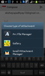 How to Attach any file in Android Gmail App