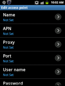 All UK service providers APN setting for Android