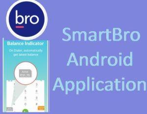 SmartBro App - Track main balance, data balance and detailed bill