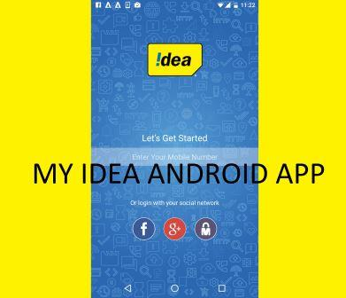 Check balance in Idea, Recharge, offers etc – With My Idea Official App