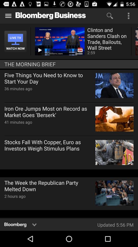 Boomberg business - Best Business news app
