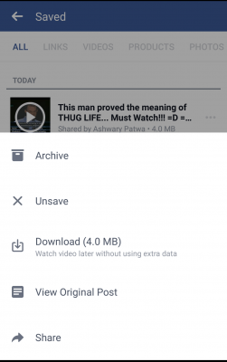 Facebook - Download videos - watch offline - save data