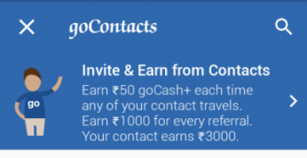 Earn Money using Goibibo App - Connect - Earn - how tp