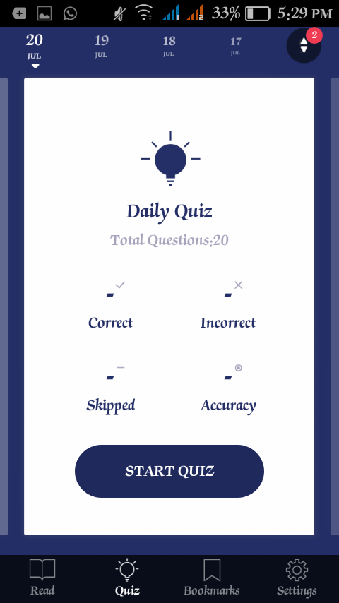 Current Affairs - Daily General Knowledge Quiz App