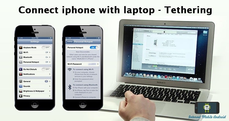 How to connect iPhone internet to laptop or PC – Tethering