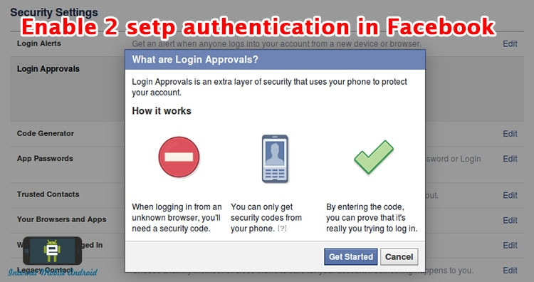 HOW TO ENABLE TWO STEP AUTHENTICATION ON FACEBOOK
