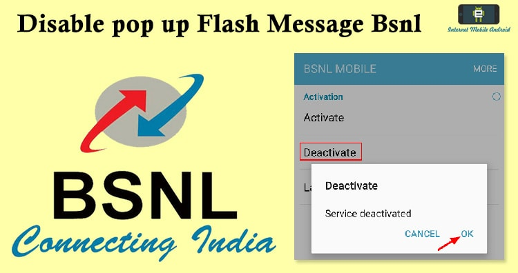 stop Bsnl Buzz Push Flash Messages - iPhone, Android Phone